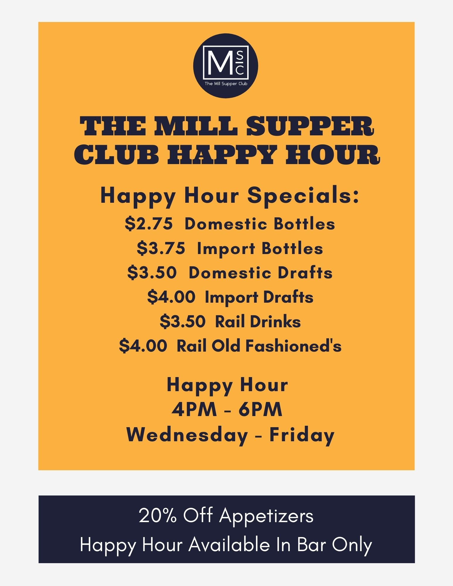 Happy Hour Fall-Winter 2021